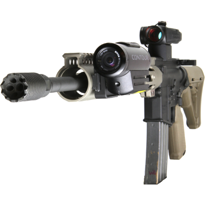 Contour Picatinny Rail Gun Metal Mount