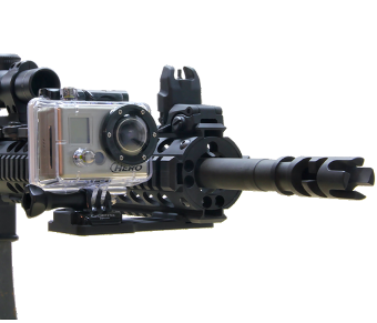 GoPro HD HERO Cantilever Picatinny Gun Rail Side Mount