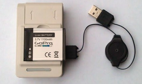 GoPro 2 USB Battery Charger Power Dock Adapter