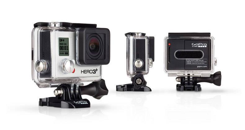GoPro HD HERO 3+ Plus Black Edition 4K Camera - CHDHX-302 - Helmet ...