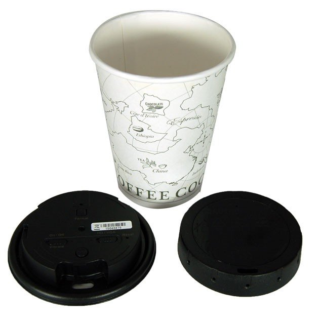 720P Covert Coffee Cup Lid Camera DVR