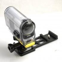 "Picatinny Gun Rail Camera Mount for Universal 1/4"" Tripod Adapters"