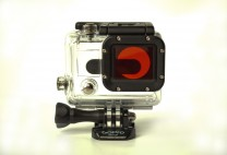 GoPro HD HERO 3+ 4 Black Silver Red Dive Filter + Dive Housing