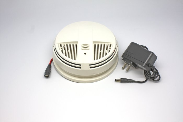Night Vision Smoke Detector Camera Dvr With Wifi Side View
