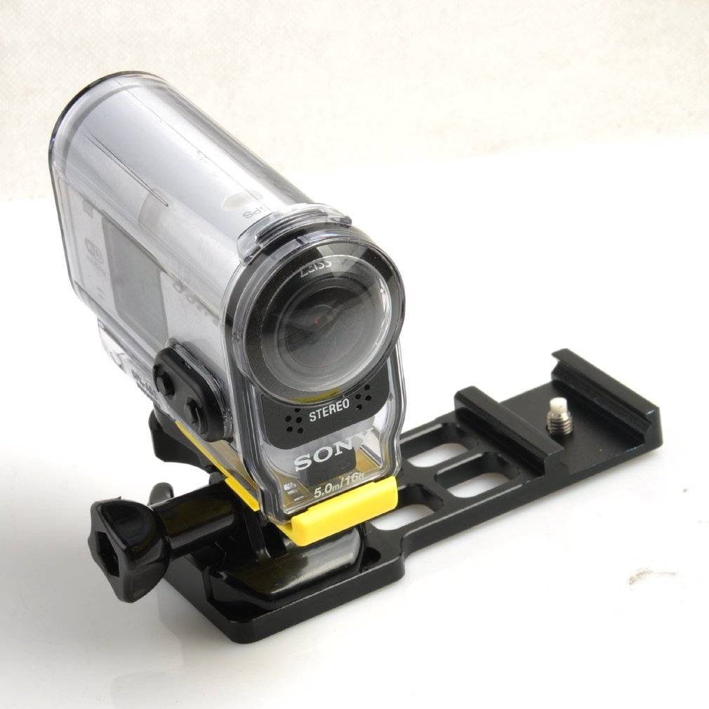 "Picatinny Gun Rail Mount for 1/4"" Thread HD Cameras"