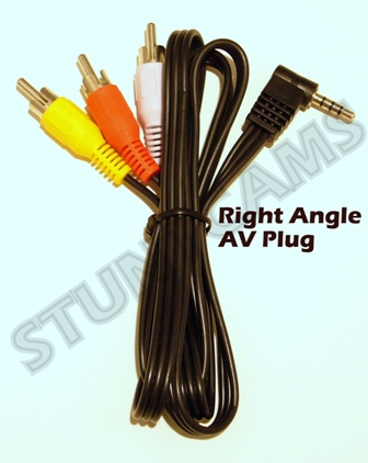 Right Angle AV Plug Philips & Lyra