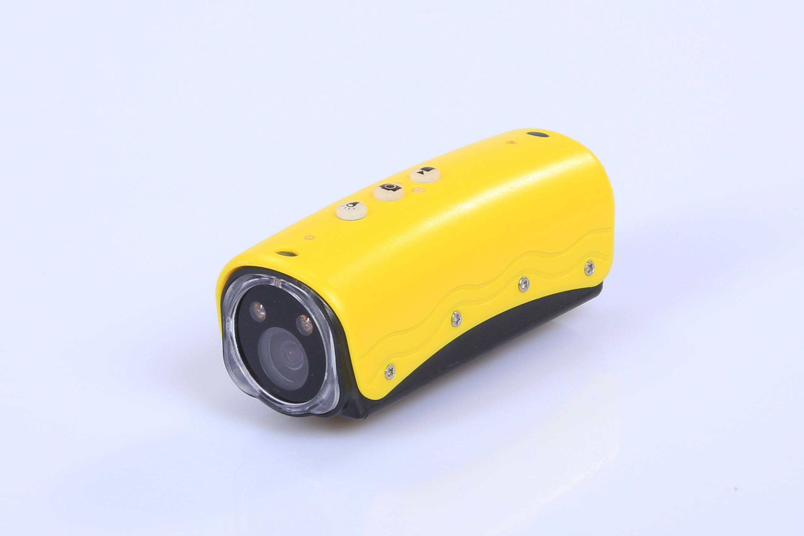 Mini HD 1080P White LED Flashlight Helmet Camera