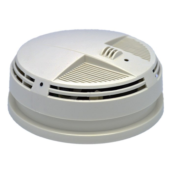 Zone Shield HD 4K IR AC Power Smoke Detector Side View Camera